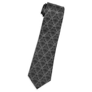 Disney Parks Haunted Mansion Wallpaper Silk Tie Gray New with Tags