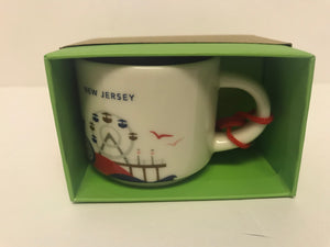 Starbucks Coffee You Are Here New Jersey Ceramic Mug Ornament New with Box