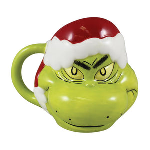 Vandor Santa Dr. Seuss The Grinch Sculpted Ceramic Mug 16 oz. New with Box