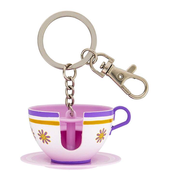 Disney Parks Alice in Wonderland Mad Tea Party Teacup 3D Keychain New with Tags