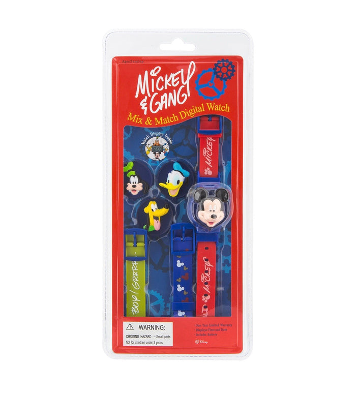 disney parks mickey friends interchangeable digital mix & match watch new with box