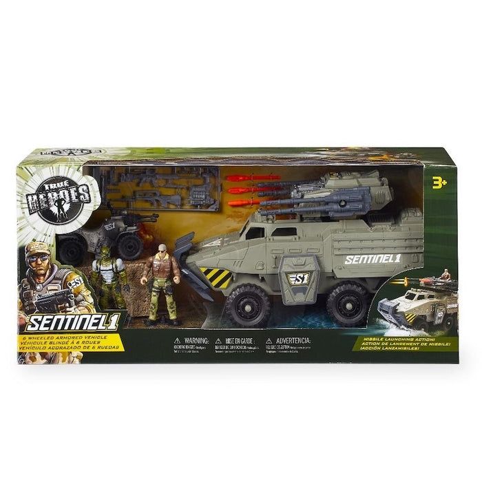 True Heroes Sentinel One 6 Wheeled Armored Vehicle Action Figure New with Box