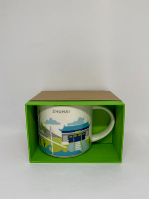 Starbucks You Are Here Collection Zhuhai China Ceramic Coffee Mug New with Box