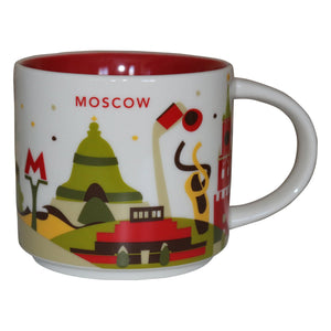 Starbucks You Are Here Moscow Ceramic Coffee Mug New with Box