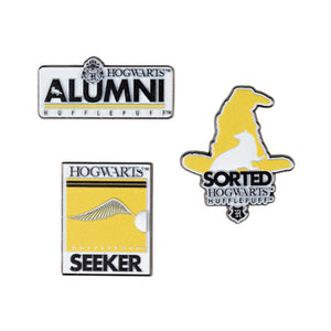 Universal Studios Harry Potter Hufflepuff Alumni Pin Set New with Card