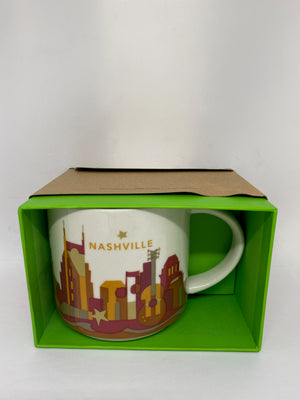 Starbucks You Are Here Nashville Tennessee Ceramic Coffee Mug New With Box