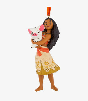 Disney Parks Moana with Pua 3D Glitter Christmas Ornament New with Tags