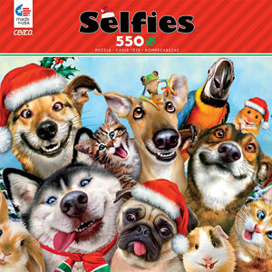 Ceaco Selfies Christmas Pet Selfie 550 pcs Jigsaw Puzzle New with Box
