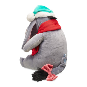 Disney Store Eeyore Holiday Plush Medium Winnie the Pooh Christmas Santa Hat New