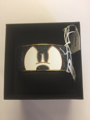 Disney X Coach Mickey Ponderous Enamel Bangle Metal Bracelet New with Box