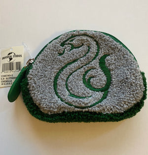 Universal Studios Harry Potter Slytherin Chenille Coin Purse New With Tags