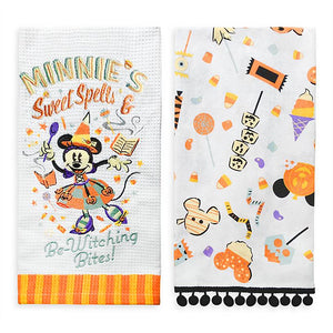 Disney Minnie Mouse Halloween Kitchen Towel Set New with Tags
