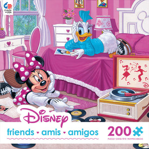 Disney Ceaco Minnie & Daisy Friends 200 Pcs Puzzle New with Box
