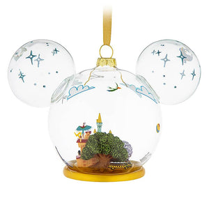 Disney Parks Life Mickey Mouse Icon Walt Disney World Glass Ornament New w Tag