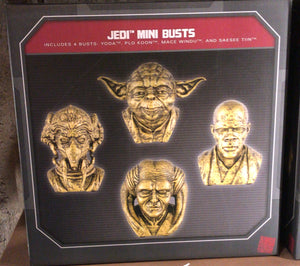 Disney Parks Star Wars Galaxy's Edge 4 Jedi Mini Bust Busts Yoda Plo Koon New