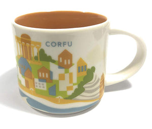 Starbucks You Are Here Collection Corfu' Ceramic Coffee Mug New with Box
