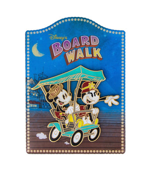Disney Parks Mickey and Minnie Boardwalk Resort Metal Magnet New