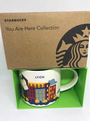 Starbucks You Are Here Collection Lyon France Ceramic Coffee Mug New with Box