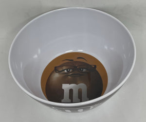 M&M's World Brown Character Logo Big Face Bowl New