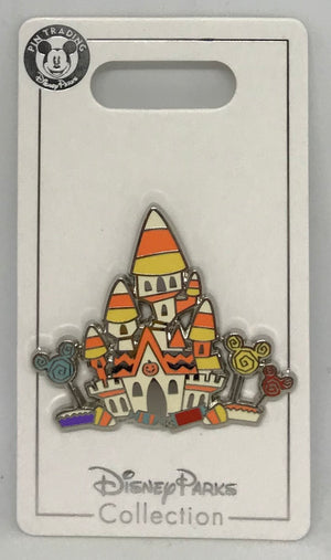 Disney Parks Halloween Candy Corn Cinderella Castle Pin New with Card