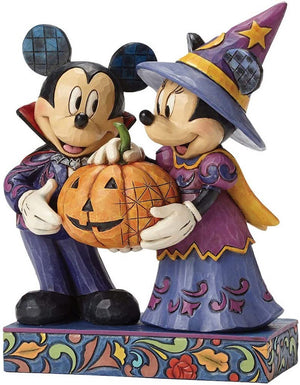Disney Jim Shore Traditions Minnie Mickey Halloween Hosts Figurine New with Box