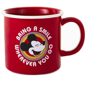 Hallmark Disney Mickey Bring a Smile Wherever You Go Coffee Mug New