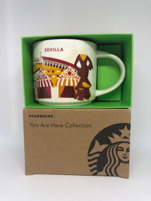 Starbucks You Are Here Collection Spain Sevilla Ceramic Coffee Mug New W Box