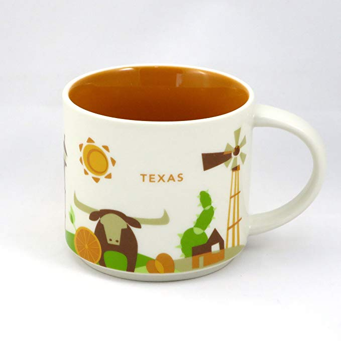 Starbucks You Are Here Texas Ceramic Coffee Mug New with Box