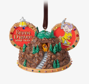 Disney Parks Seven Drarfs Mine Train Ear Hat Ornament New with Tag