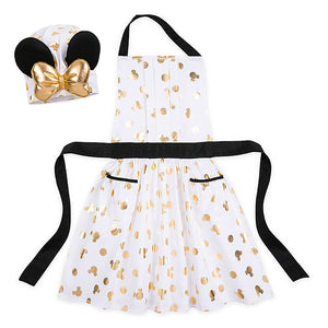 Disney Eats Minnie Mouse Apron and Hat Set for Girls New