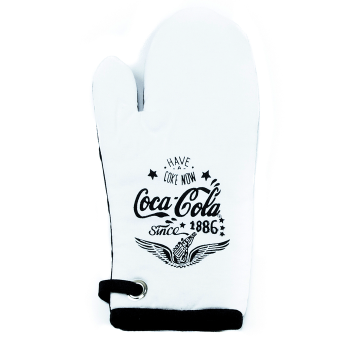 Authentic Coca-Cola Coke Chalk Talk Wings Oven Mitt New with Tag