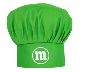 M&M's World Green Character Apron and Chef Hat Set for Adult New with Tag