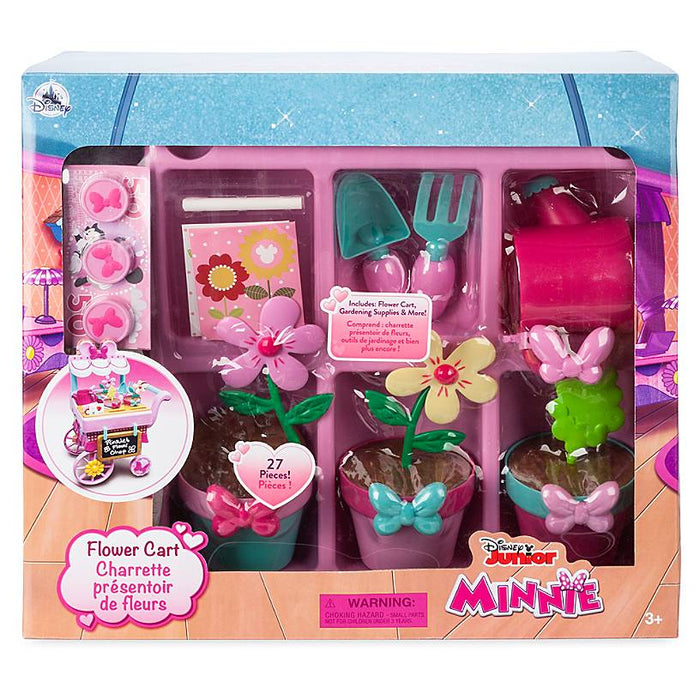 Disney Junior Minnie Mouse Flower Cart Play Set New with Box