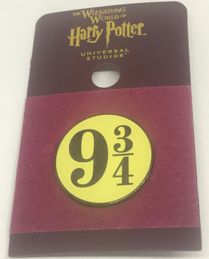 Universal Studios Harry Potter Platform 9 3/4 Pin Wizarding World New