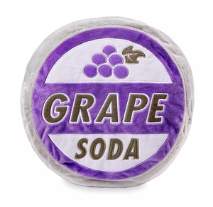 Disney Parks Up Grape Soda Bottlecap Plush Pillow New with Tag