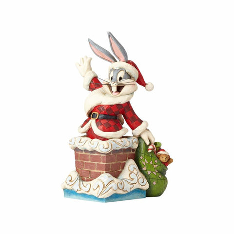 Looney Tunes Santa Bugs Bunny Jim Shore Resin Figurine New with Box