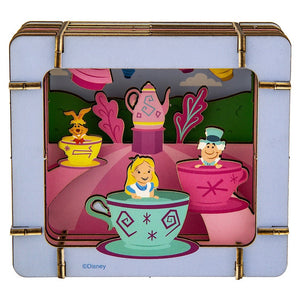Disney Parks Alice in Wonderland Paper 3D Diorama Set New Sealed