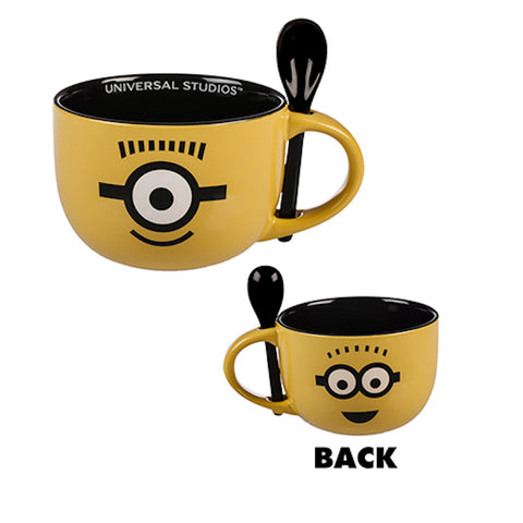 Universal Studios Despicable Me Minion Ceramic Cappuccino Mug with Spoon New