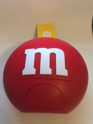 M&M's World Candy Red Round Dispenser New with Tags