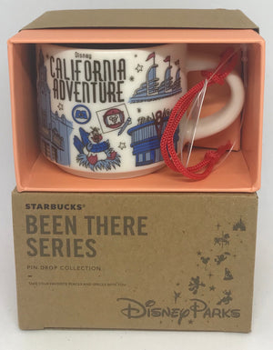 Disney Parks Starbucks Been There California Adventure Coffee Mug Ornament New