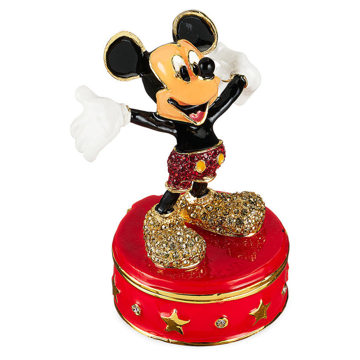 Disney Parks Mickey Mouse Trinket Box by Arribas Brothers New with Box