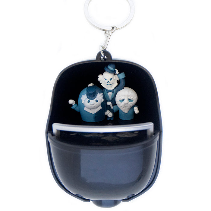 Disney Parks Haunted Mansion Hitchhiking Ghosts Light Up Keychain New with Tags