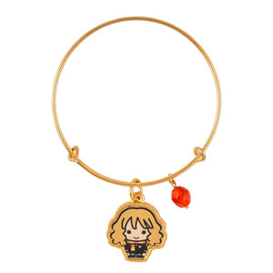Universal Studios Harry Potter Hermione Granger Gold Tone Charm Bangle New w Tag