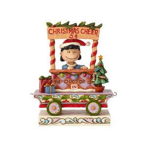 Jim Shore Peanuts Lucy Christmas Train Resin Figurine New with Box