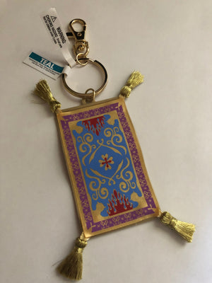 Disney Parks Aladdin Magical Carpet Keychain New with Tags