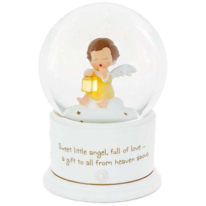 Hallmark Mary's Angels Lullaby Musical Snow Globe With Light New with Tag