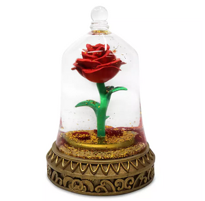 Disney Parks Beauty and the Beast Enchanted Rose Snow Globe New with Box