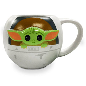 Disney The Child Star Wars The Mandalorian Yoda Figural Mug New