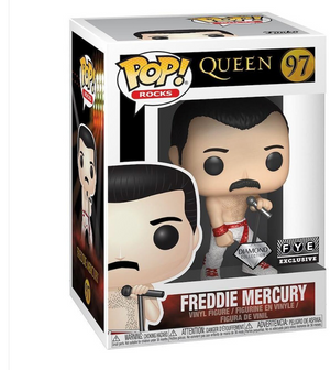 Funko Pop! Rocks Queen Freddie Mercury Diamond Collection Fye Exclusive New