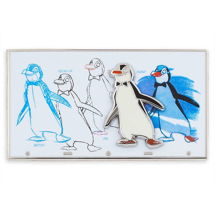 Disney Parks Ink & Paint Mary Poppins Penguin Waiters New with Card